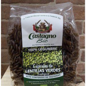 Pasta Espirales Eco Lenteja Verde Castagno Bio