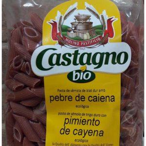 Pasta Macarrones Eco con Cayena Castagno Bio
