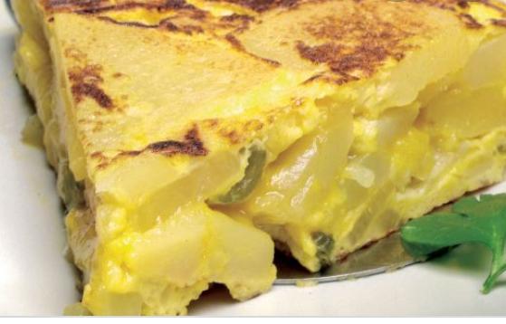 """1/"""" tortilla de patata sola"""