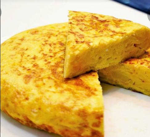 1/2 tortilla patata y cebolla